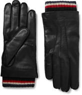 Thom Browne - Cashmere-trimmed Leather Gloves