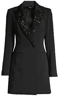 Jay Godfrey Women's Ace Sequin Lapel Tuxedo Dress - Size 0