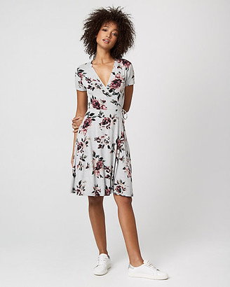 Le Château Floral Print Jersey Knit Wrap-Like Dress
