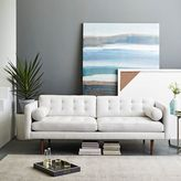 "west elm Monroe Mid-Century Leather Sofa (80"")"