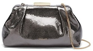 DeMellier Mini Florence Embossed Metallic Leather Clutch