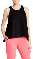 Milly Sleeveless Trapeze Tank Blouse