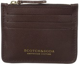 Scotch & Soda Credit Card Holder in Leather Quality with Zip