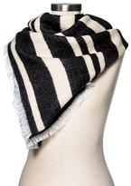 Merona Women's Blanket Scarf Black/White Stripe