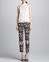 Nanette Lepore Wildlife Cropped Animal-Print Pants