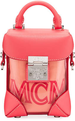 MCM Berlin Mini Soft See-Through Crossbody Bag