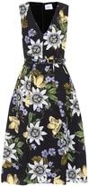 Erdem Kuni printed jacquard dress