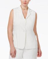 Rachel Roy Curvy Trendy Plus Size Lace-Up Vest