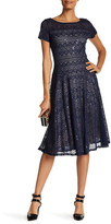 Sangria Short Sleeve Lace Dress