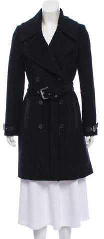 Andrew Marc Double-Breasted Wool Coat