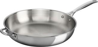 "Le Creuset Stainless Steel 12.5"" Deep Fry Pan with Helper Handle"