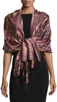 Sabira Paisley Jacquard Weave Shawl, Purple Floral