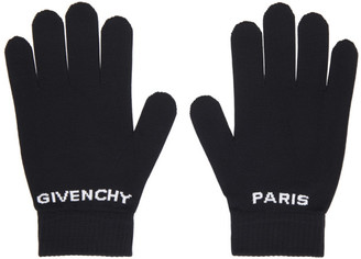 Givenchy Black Logo Gloves
