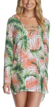 Raisins Juniors' Palmas Printed Cover-Up Women's Swimsuit