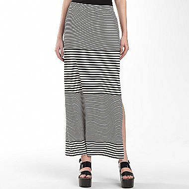 Nicole Miller nicole by Striped Maxi Skirt