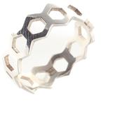 Jennifer Zeuner Jewelry Sterling Silver Geometric Band Ring Size 7 New