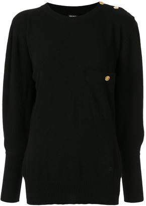 Chanel Pre Owned Cashmere Dolman Sleeve Jumper