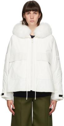 Yves Salomon   Army Yves Salomon - Army White Down and Fur Bachette Jacket