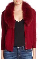 Milly Wool & Fox Fur Cardigan
