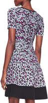 Kate Spade Cyber Leopard & Cheetah-Print Sweater Dress