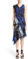 Proenza Schouler Women's Print Silk Georgette Asymmetrical Dress