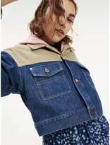 Tommy Hilfiger Corduroy and Denim Cropped Jacket