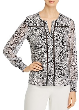 Single Thread Printed Ladder-Stitched Blouse