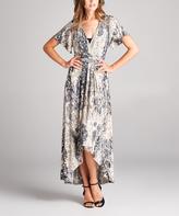 Tua Cream Floral Tie-Waist Maxi Dress