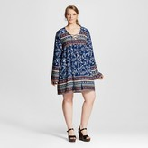 Perch Women's Plus Size Printed Shift Dress Juniors')