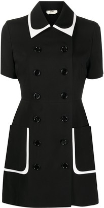 Fendi Double-Breasted Mini Dress