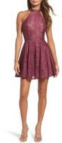 La Femme Women's Lace Halter Style Dress