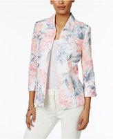 Alfred Dunner Rose Hill Floral-Print Jacket