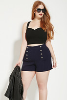 Forever 21 FOREVER 21+ Plus Size Sailor Shorts