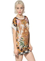 Just Cavalli Satin And Jersey T-Shirt