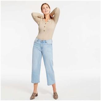 Joe Fresh Women's V-Neck Ribbed Sweater, Light Oat Mix (Size XS)