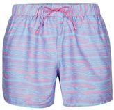 Topman Pink Waves Print Swim Shorts