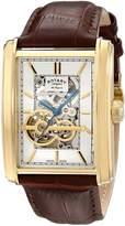 Rotary Men's gs90521/03 Analog Display Swiss Automatic Black Watch