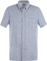 Ben Sherman Short Sleeve Linen Gingham Shirt