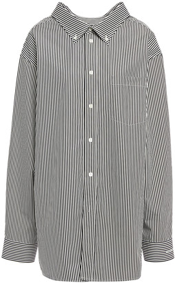 Balenciaga Striped Cotton-poplin Shirt