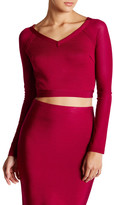 Wow Couture Long Sleeve Back Cutout Cropped Shirt