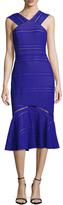 Tracy Reese Women's Halterneck Flounce Midi Dress