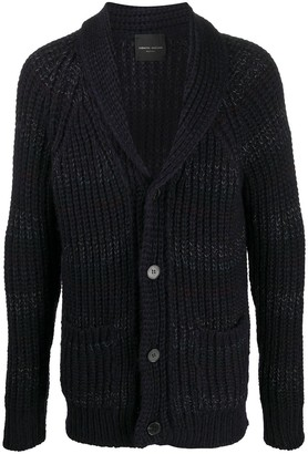 Roberto Collina Striped Chunky Knitted Cardigan