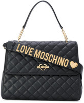 Love Moschino flap closure quilted tote - women - Polyurethane - One Size