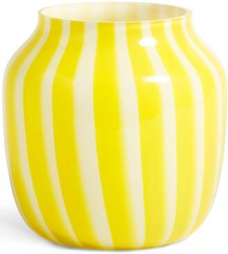Hay Striped Wide Vase