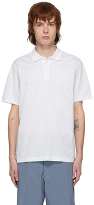 Bottega Veneta White Embroidered Logo Polo