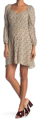 Angie Long Sleeve Button Dress