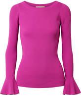 MICHAEL Michael Kors Ribbed-knit Sweater - Magenta