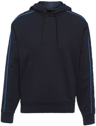 Prada hooded panelled sweatshirt