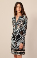 Hale Bob Mel Geo Jersey Dress In Beige