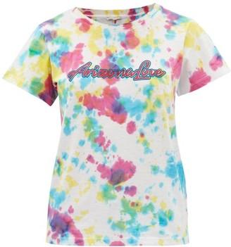 Arizona Love Ally Logo-print Tie-dye Cotton-jersey T-shirt - White Print